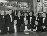 Guests at Newport centenary dinner 1975