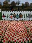 Field of Remembrance in the grounds of Cardiff...