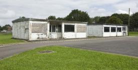 Old bank & shop at RAF St Athan, 2009