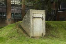 Blast door on air raid shelter, RAF St Athan
