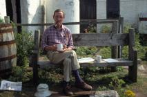 Skokholm - Taking tea in the courtyard outside...