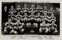 Newport RFC squad photo, 1950-1951