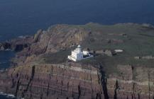 Skokholm - Lighthouse area - oblique aerial...