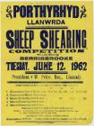 Sheep Shearing Competition, Porthyrhyd