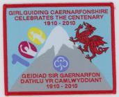 Girlguiding Caernarfonshire Centenary badge