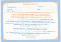 Reverse side of Commisioner warrant card signed...