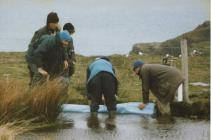 Repairing Dam at Winter Pond