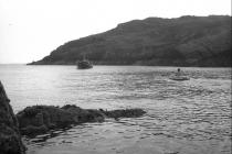 Skokholm – Tom in dingy with 'Lord Hurcom' - 1982