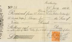A receipt for the settlement of estate duty,...