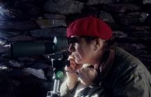 Skokholm - Jean Donovan in the sea-watching...
