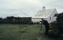 Skokholm - Looking though a telescope in 1994
