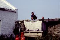 Filling Drinking Water Tank, Skokholm Island, 1983