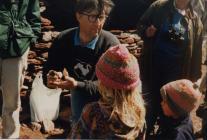 Skokholm-Chris Perrins-bird ringing 1990