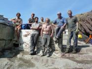Volunteers on Skokholm Jetty repair