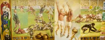 Rugby painting by Thomas Rathmell