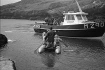 Skokholm - Bob and Stella Culwick leaving for...