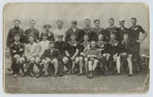 Souvenir postcard of the New Zealand Football...