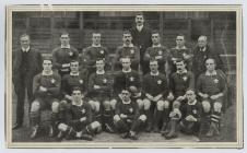 The Welsh Team which defeated New Zealand, 1905