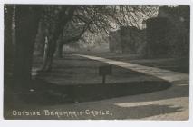 (Postcard) Outside Beaumaris Castle