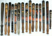 Collection of painted / decorated truncheons