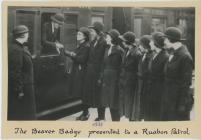 The Beaver badge presented to a Ruabon patrol