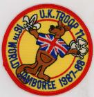 1987-1988 Boy Scout World Jamboree British...