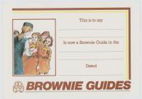 Brownie Guide Certificate