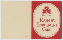 Front of Ranger enrolment card