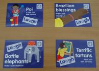 Laugh' cards from the Global Adventure...