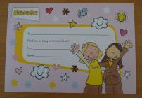 Brownie Buddy certificate