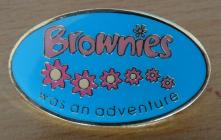 Brownie leaving badge