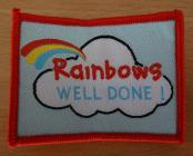 Rainbow Well Done! Badge