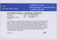 VCS Volunteer Advertisement, CSV RSVP Wales