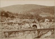 Dolymynach Dam Construction, Claerwen Valley...