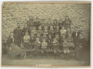 Photograph of pupils and teachers Llangeitho...