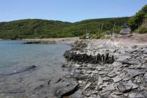 Frongoch - remains of slateworks quay and...