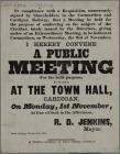 A Public Meeting Town Hall Cardigan poster
