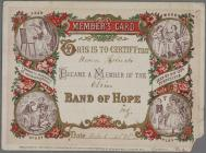 Band of Hope Member's Card poster