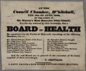 Board of Health 1834 poster
