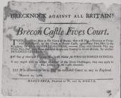 Brecknock against all Britain! Brecon Castle...