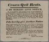 Crown Quit Rents W.Evans 1824
