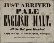 Just Arrived Pale English malt 1842