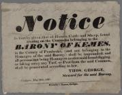 Notice Barony Of Kemes 1827