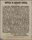 Notice is Hereby Give that I David Griffiths 1841