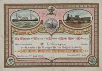 Opening of the New Holyhead Harbour 1880