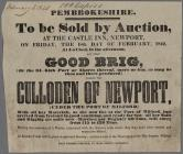 Pembrokeshire. To Be Sold Good Brig Feb. 18 1842