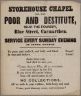 Store House Chapel, appeal to poor and...