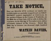 Take Notice Watkin Davies 1826