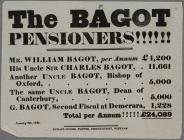 The Bagot Pensioners!! 1835