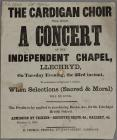 The Cardigan Choir will hold A Concert 1858